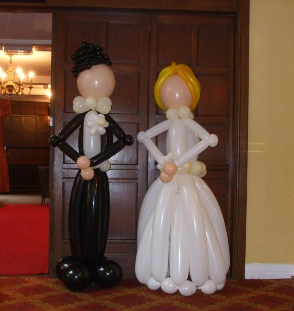Bride & Groom balloon sculptures