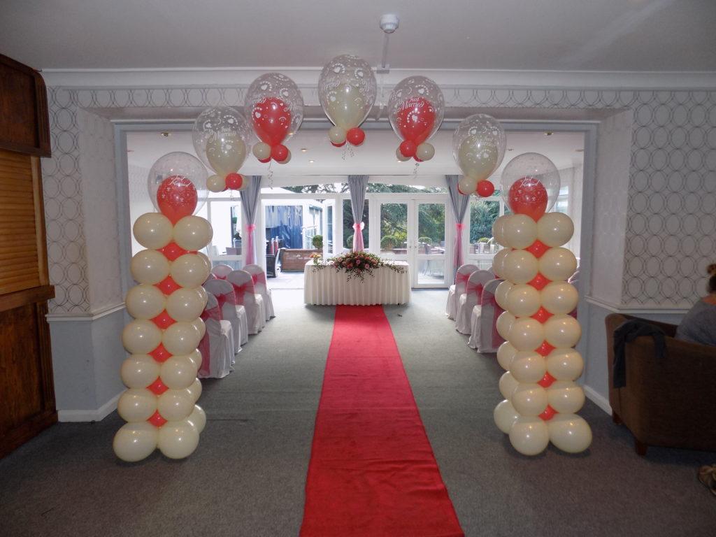 Balloon arch at a wedding