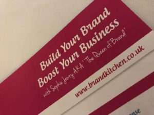 Sophie Jewry The Queen of Brand leaflet on branding your business